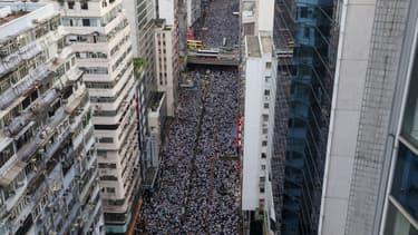 Dans les rues de Hong Kong, le 9 juin 2019.
