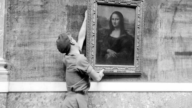 La Joconde en 1947, au musée du Louvres (photo d'illustration)