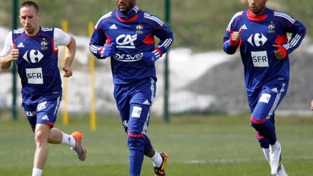 Nicolas Anelka et Franck Ribéry