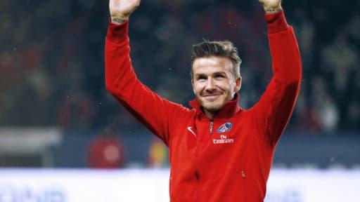 David Beckham avant le match PSG-OM fin février