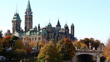 Le Parlement Fédéral d'Ottawa, capitale du Canada