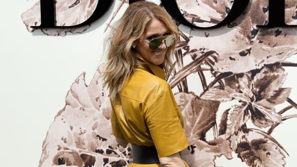 Céline Dion au défilé Christian Dior lors de la Fashion Week à Paris en 2017