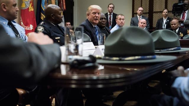 Donald Trump à la Maison Blanche, le 13 avril 2017.