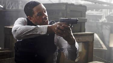 """JoeyStarr dans le film """"Colt 45"""", en 2014."""