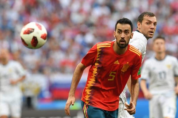 Le Barcelonais Sergio Busquets avec l'Espagne lors de la Coupe du monde 2018