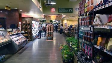 Un supermarché new-yorkais de la chaîne Whole Foods, détenue par Amazon.