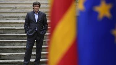Le président séparatiste de la Catalogne, Carles Puigdemont le 30 septembre 2017.