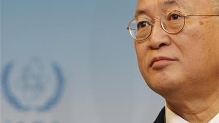 Le directeur général de l'Agence internationale de l'énergie atomique, Yukiya Amano. L'Iran a avisé formellement l'Agence internationale de l'énergie atomique (AIEA) de l'accord d'échange de combustible nucléaire conclu la semaine dernière à Téhéran avec