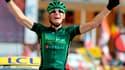 Pierre Rolland, ici lors de son succès à l'Alpe d'Huez (Tour de France 2011).