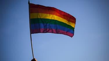 Le drapeau LGBT. (photo d'illustration)