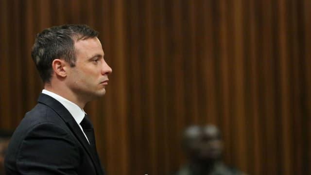Oscar Pistorius lors de son procès, le 21 octobre 2014.