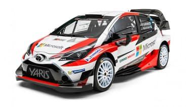 La Yaris WRC qui participera au championnat du monde de rallye la saison prochaine