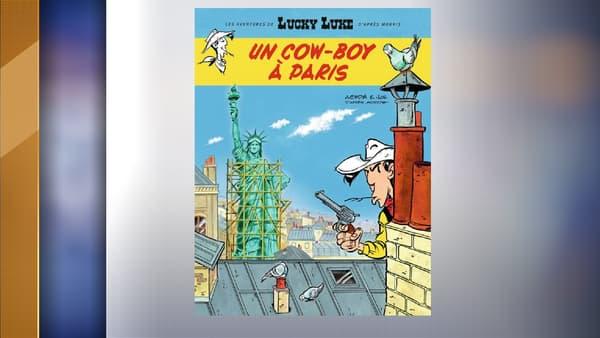 La couverture du prochain album de Lucky Luke à paraître en novembre