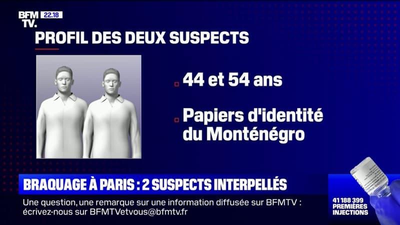 Braquage à Paris: deux suspects interpellés, le butin presque intégralement retrouvé