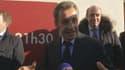 Nicolas Sarkozy dans les rues d'Anet, dans l'Eure-et-Loir.