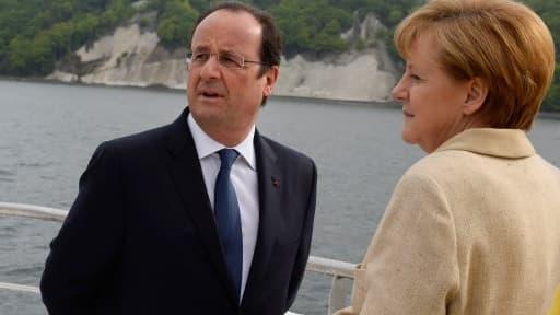 François Hollande est en déplacement en Allemagne, où il s'est exprimé en comagnie d'Angela Merkel.