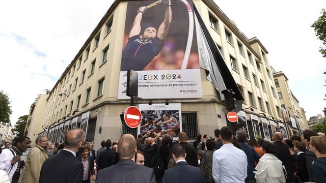 L'affiche de la candidature de Paris 2024