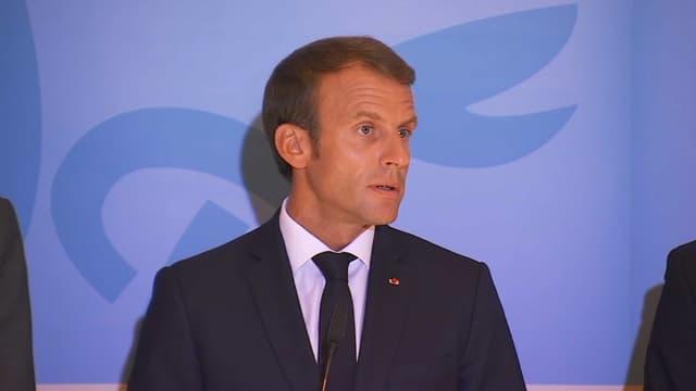 Emmanuel Macron est en déplacement à Luxembourg