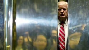 Le président américain Donald Trump le 16 janvier 2017 à New York