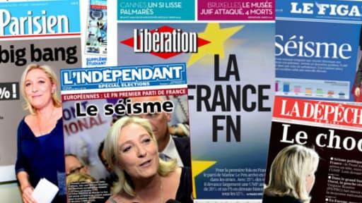 La plupart de la presse française lundi a consacré sa une au Front national.
