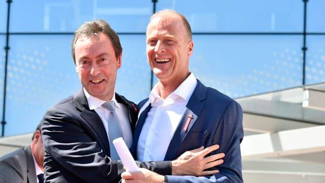 Fabrice Brégier (à gauche) et Tom Enders (à droite) vont quitter le groupe respectivement en 2018 et 2019