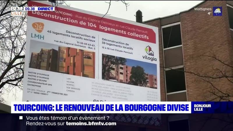 Tourcoing: le renouveau du quartier de la Bourgogne divise les habitants