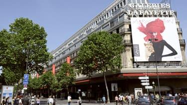 Les Galeries Lafayette, boulevard Haussmann à Paris