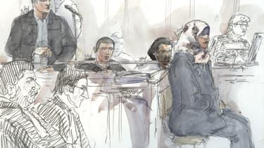 Dessin du procès de Bilal Taghi en 2016 (image d'illustration)
