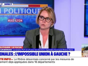 """Régionales: Cécile Cukierman assure """"ne fermer aucune porte"""" pour une alliance avec Najat Vallaud-Belkacem"""