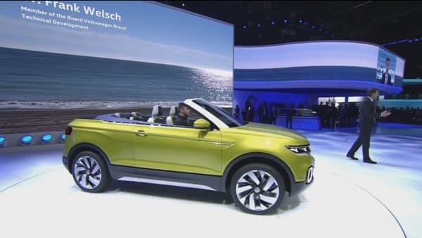 Volkswagen a dévoilé un concept de crossover décapotable au salon de Genève 2016, le T-Cross Breeze.