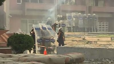 Intervention de la police à Istanbul le 2 juin 2013.