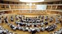 L'hémicycle du conseil régional d'Auvergne-Rhône-Alpes.