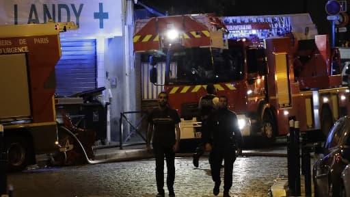 Les pompiers en intervention à Aubervilliers