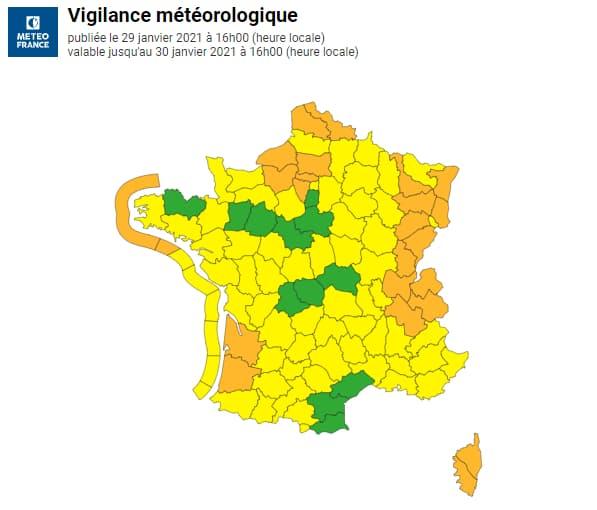 24 départements sont en vigilance orange