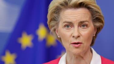 La présidente de la Commission Ursula von der Leyen à Bruxelles le 23 septembre 2020