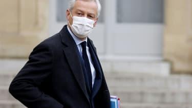 Le ministre de l'Economie Bruno Le Maire à l'Elysée, le 20 janvier 2021