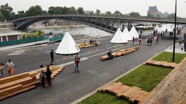 La rive gauche des quais de Seine à Paris, le 19 juin 2013.