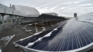 Une centrale solaire d'un mégawatt est sortie de terre au coeur de la zone irradiée de Tchernobyl.