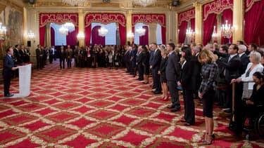 La remise de la Légion d'honneur en octobre dernier, à l'Elysée.