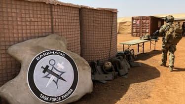 Une base de l'opération antiterroriste française au Sahel Barkhane, et du groupement de forces spéciales européennes Takuba, à Menaka, au Mali, le 3 novembre 2020.