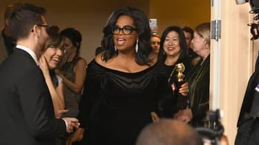 Oprah Winfrey lors de la cérémonie des Golden Globes, le 7 janvier 2018, à Los Angeles.