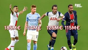 Mbappé joueur le plus cher du monde devant Kane selon KPMG, Neymar dans le Top 10