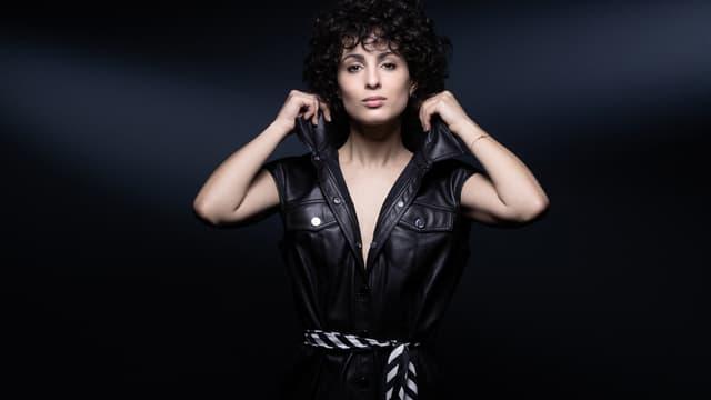 Barbara Pravi, candidate française à l'Eurovision 2021, en février.
