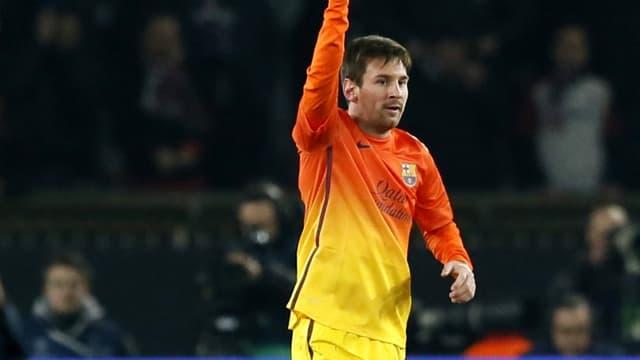 Lionel Messi au match aller