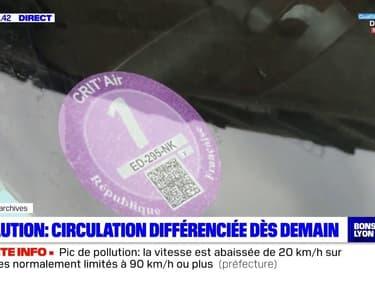 Pollution : circulation différenciée dès mercredi