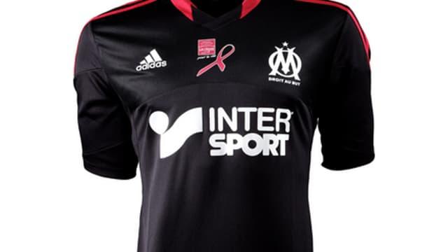 Le maillot de l'OM contre Lyon