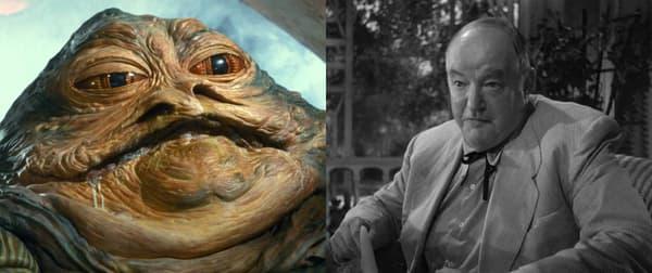Jabba le Hutt et Sydney Greenstreet