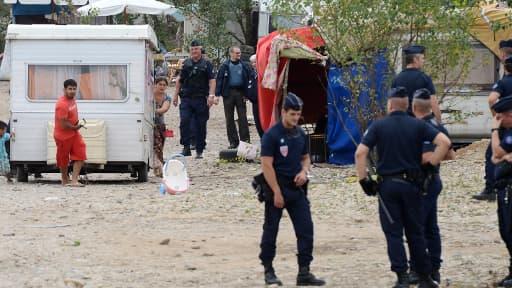 Un camp rom à Marseille, le 30 août 2012