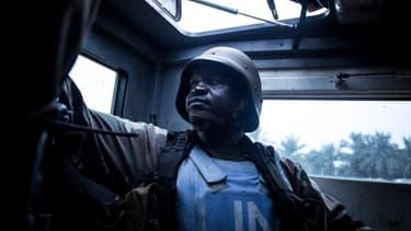Un Casque bleu en République démocratique du Congo, image d'illustration.