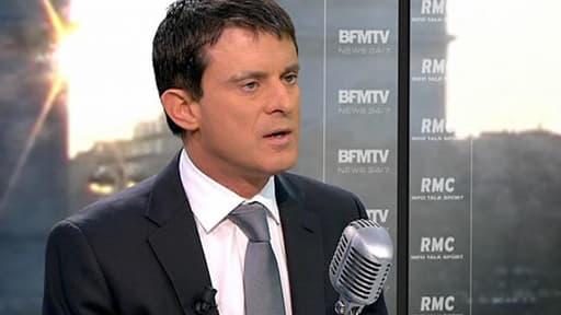 Manuel Valls sur RMC et BFMTV